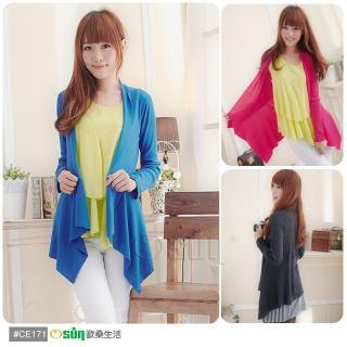 【Osun】台灣製超顯瘦針織羅紋小外套(多色可選 CE171)