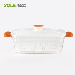 【YOLE悠樂居】Blest易料理長形蒸籠#1400ml