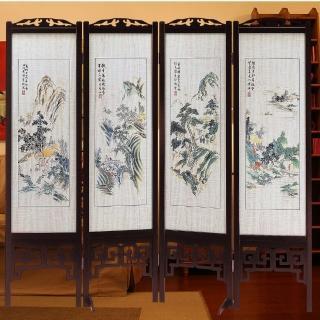 【時尚屋】中國風彩色山水雙面屏風(2T5-611)
