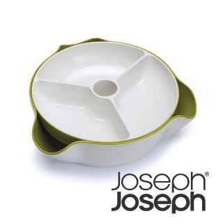 【Joseph Joseph 英國創意設計餐廚】好方便雙層點心碗-綠白(70073)
