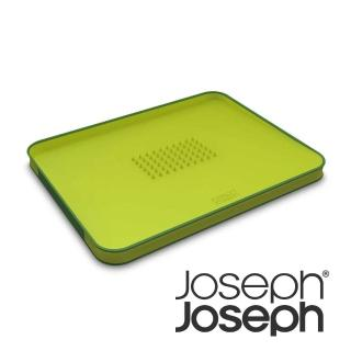 【Joseph Joseph 英國創意設計餐廚】好好切雙面傾斜砧板-大綠(60001)