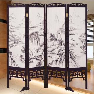 【時尚屋】中國風國畫潑墨山水雙面屏風(2T5-616)