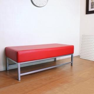 【美佳居】寬110公分-厚型沙發椅座(15公分厚)泡棉椅座(皮面)休閒椅/沙發椅/長排座椅(鮮紅色)