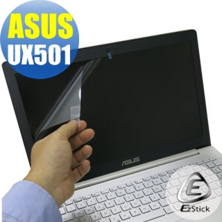 【EZstick】ASUS UX501 專用 靜電式筆電LCD液晶螢幕貼(可選鏡面或霧面)