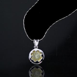 【xmono】動心925純銀單顆美鑽項鍊(黃鑽)   xmono