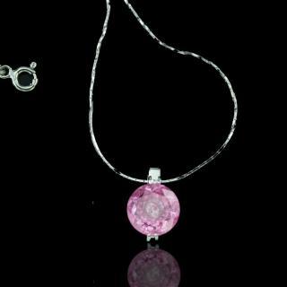 【xmono】動心925純銀單顆美鑽項鍊(粉紅鑽)   xmono