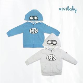 【ViVibaby】騎士連帽外套(藍/灰)