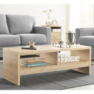 【FUN生活】DIY經典設計優雅大茶几桌/邊桌(淺橡色)