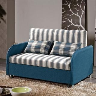【綠活居】艾斯特  棉麻布拉合式沙發床/沙發(六段式調整機能)