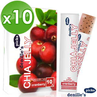 【denille's picks】奇亞籽膠原蛋白凍-蔓越莓(10盒共100支-效期2017年3月)