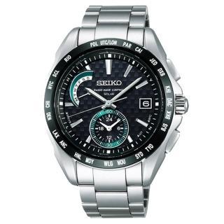【SEIKO BRIGHTZ】綠光時尚電波腕錶(黑/銀8B54-0AT0D)