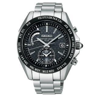 【SEIKO BRIGHTZ】世界時區4局電波腕錶(黑/43mm/8B54-0AL0D)