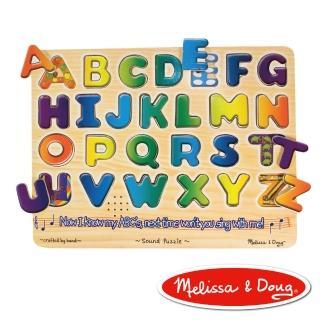 【美國瑪莉莎 Melissa & Doug】聲音拼圖(英文字母學習)