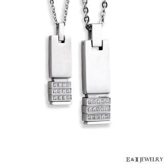 【E&I】-奢華戀曲-316L白鋼造型對鍊(情侶項鍊/對鍊)