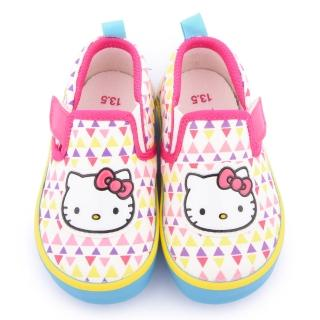【三麗鷗】Hello Kitty 中小童 繽紛風采帆布鞋(715912-白)