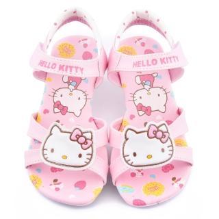 【三麗鷗】Hello kitty 中大童 甜美低跟涼鞋(815752-粉)