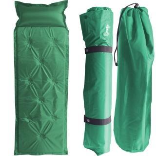 【野外休閒】露營防潮自動充氣睡墊帶枕頭(可拼接)