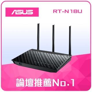 【ASUS 華碩】RT-N18U 無線分享器(黑)  ASUS 華碩