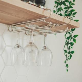 【樂活主義】不鏽鋼吊掛式層板高腳杯架(-搶購)
