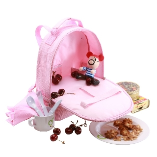 【Yodo】幼童野餐保溫包-含餐具(粉紅色)