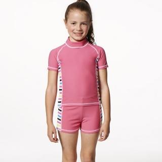 【SARBIS】MIT泡湯SPA女童二件式泳裝(附泳帽B80501)