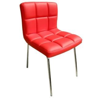【E-Style】高級精緻PU皮革椅面-洽談椅/電腦椅/會客椅/餐椅-1入/組(三色可選)