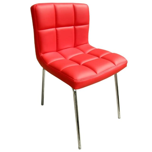 【E-Style】高級精緻PU皮革椅面-洽談椅-電腦椅-會客椅-餐椅-1入-組(三色可選)