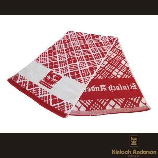 【金安德森】寬版運動毛巾(紅白)