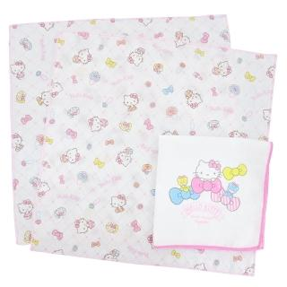 【HELLO KITTY】印花紗布手帕(3入)