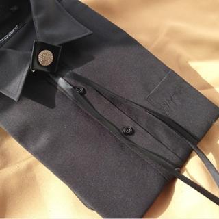 【拉福】低調單鑽領結新郎結婚領結糾糾(黑色)