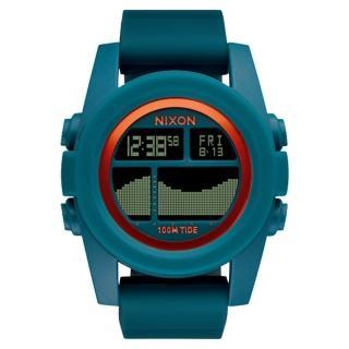 【NIXON】Unit Tide 飆悍美式軍風運動腕錶-錶帶藍綠(A2822087)