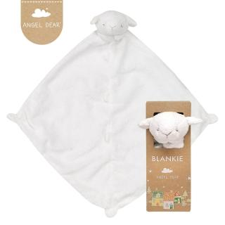 【美國 Angel Dear】動物嬰兒安撫巾(小白羊寶寶)