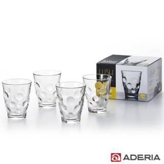 【ADERIA】日本進口玻璃酒杯四件套組315ml(圓點款)