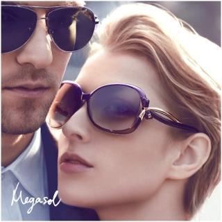 【MEGASOL】寶麗萊UV400偏光太陽眼鏡(蝶翼設計師款MS2229 - 5色任選)