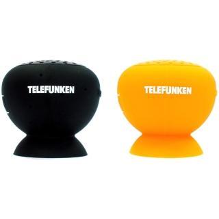 【福利品】德國德律風根 防潑水藍牙蘑菇揚聲器(BT-SP2  橘+黑色2入組)