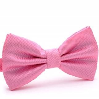 【拉福】紋路領結結婚領結糾糾(粉紅色)