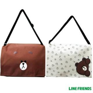 【LINE FRIENDS】MIT無辜熊大側背包(大-咖/米_5418)