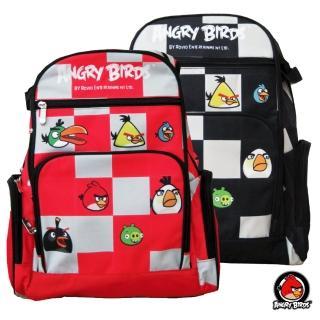 【Angry Birds憤怒鳥】組合昇華格子書背包(紅/黑_AB_6019)