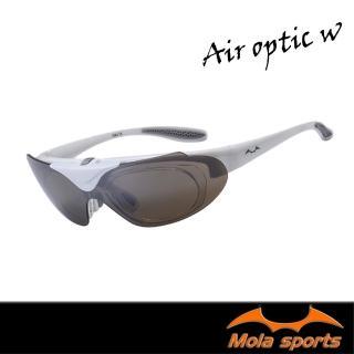 【MOLA SPORTS】近視/老花眼鏡族可戴-摩拉上掀式運動太陽眼鏡(Air_optic-w)