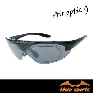 【MOLA SPORTS】近視/老花眼鏡族可戴-摩拉上掀式運動太陽眼鏡(Air_optic-g)