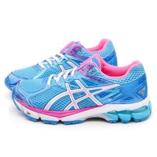 【Asics】女款GT-1000 3高支撐機能慢跑鞋(T4K8N-3901-藍)