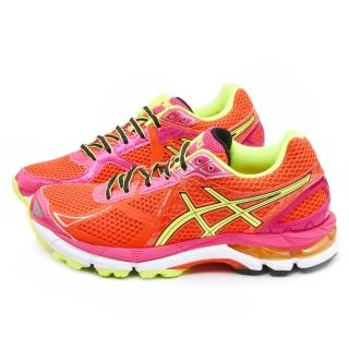 【Asics】女款GT-2000 3高支撐機能慢跑鞋(T550N-2107-橘)