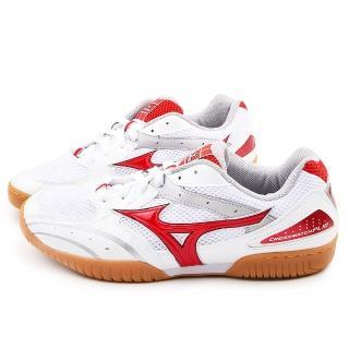 【MIZUNO】男款 CROMATCH PLIO RX 2桌球鞋(81GA143062-白紅)