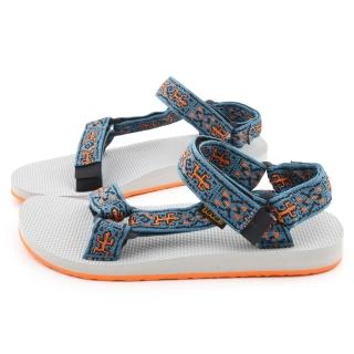 【TEVA】男款 經典復刻織帶涼鞋(TV1004006OLDB-藍橘)