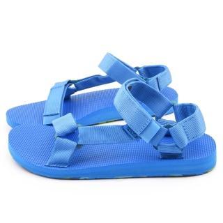 【TEVA】男款 經典織帶涼鞋(TV1007555FBLU-藍)