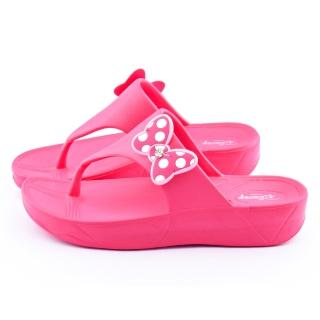 【童鞋城堡】Disney 女款 米妮夾腳拖(454735-桃)
