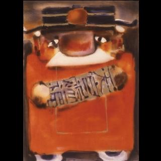 【劉其偉藝術典藏】親筆簽名限量發行石版畫(自畫像系列--天官賜福)