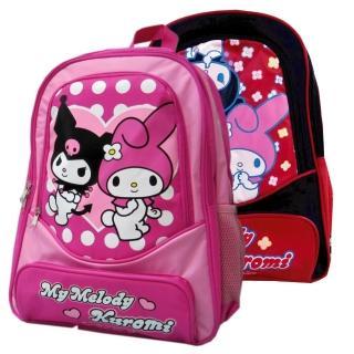 【美樂蒂Kuromi】雙層休閒書背包(KU-3940)