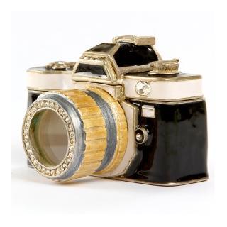 【三卡寶精品】復古照相機-金屬擺件 工藝品 奧地利水鑽(珠寶盒)