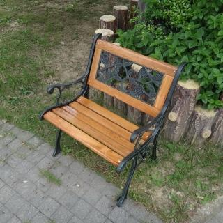 【BROTHER 兄弟牌】歐式典雅單人玫瑰鑄鐵公園椅